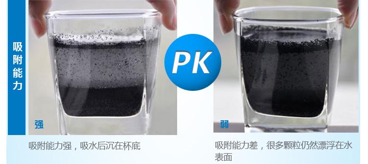 过滤水壶 滤材 吸附性对比