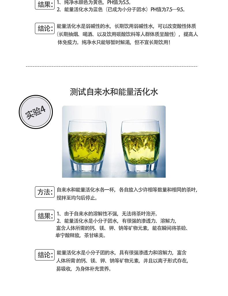 冷水泡茶实验 弱碱性小分子团水